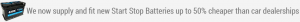 start stop batteries Wirral
